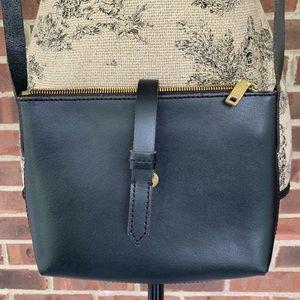 ⬇️$25 J. Crew black leather crossbody bag